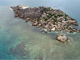 The island of Cangrejo goes to the bottom off Panama, so that its inhabitants will be moved to the mainland